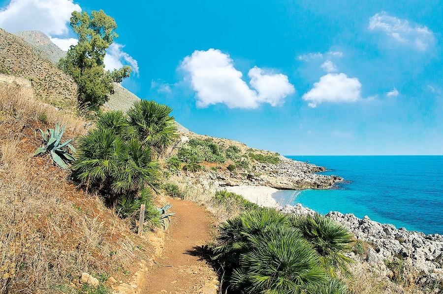 opSicilie zingaro-pad-strand op Sicilie, Italie