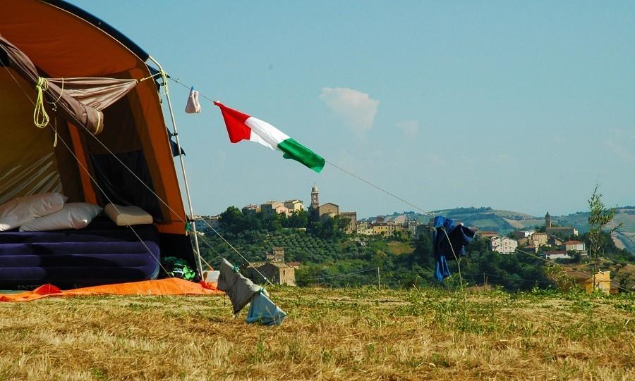 Villa Bussola in Le Marche, Italie kamperen met uitzicht 3