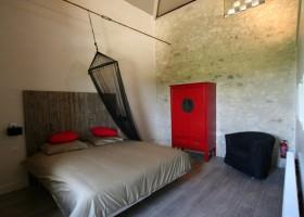 Villa Lafage in de Dordogne, Frankrijk Pigionnier slaapkamer Villa Lafage 30pluskids