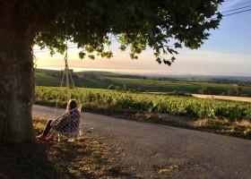 Domaine Lachat in Regnie-Durette, Frankrijk genieten van uitzicht Domaine Lachat 30pluskids