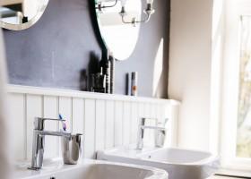 Buitenlust in Limburg, Nederland vakantiehuis luxe badkamer Vakantiehuis Buitenlust 30pluskids