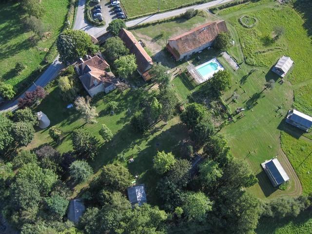 Le Mas d'en Haut in de Creuse, Frankrijk van bovenaf