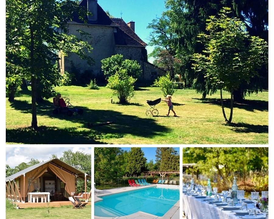Fotocollage Le Mas d'en Haut in de Creuse, Frankrijk