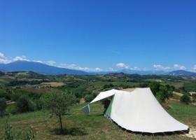 Villa Bussola in Le Marche, Italie kamperen met uitzicht Agriturismo Villa Bussola  30pluskids