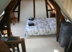 Le Lieu Thomain in Normandie, Frankrijk gite La Grange slaapkamer Le Lieu Thomain 30pluskids