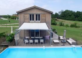 Les Terrasses in de Lot et Garonne, Frankrijk huis met zwembad Les Terrasses 30pluskids