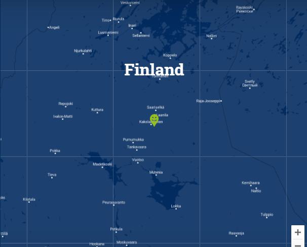 Travelnauts kaartje Fins Lapland Familiereis winters Lapland 30pluskids kaart