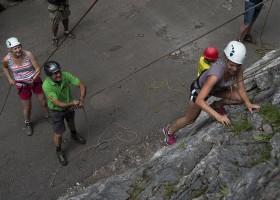 Berghotel Axx in Tirol, Oostenrijk klimmen Berghotel Axx 30pluskids