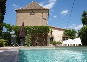 Villa Lafage in de Dordogne, Frankrijk Pigionnier met zwembad Villa Lafage 30pluskids