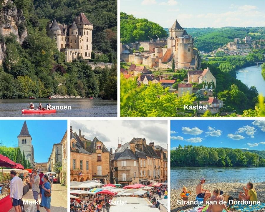 Petite Vallee Coux et Bigaroque, Frankrijk omgeving collage