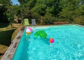 Puech de Cabanelles in Tréban, Frankrijk zwembad Puech de Cabanelles 30pluskids