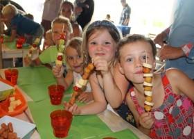 Place de la Famille in de Dordogne, Frankrijk kids eten Glamping Place de la Famille 30pluskids
