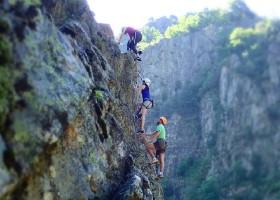 Camping Les Charmilles Ardeche Frankrijk klimmen Camping les Charmilles 30pluskids