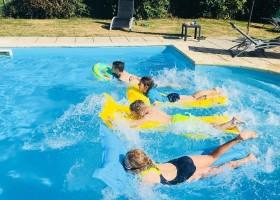 Les Chardonnerets in de Dordogne, Frankrijk zwembad Les Chardonnerets 30pluskids