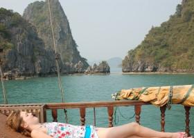 KidsReizen Vietnam halong bay boot KidsReizen Vietnam 21-daagse rondreis  30pluskids
