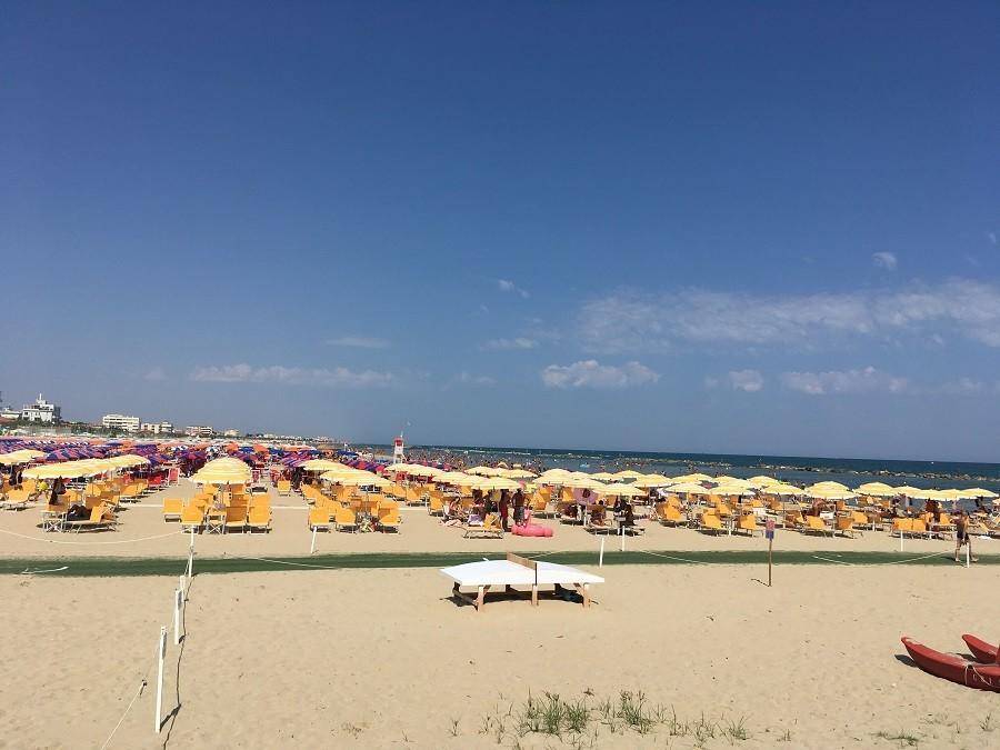 Vakantie in Le Marche, Italie Senigallia strand