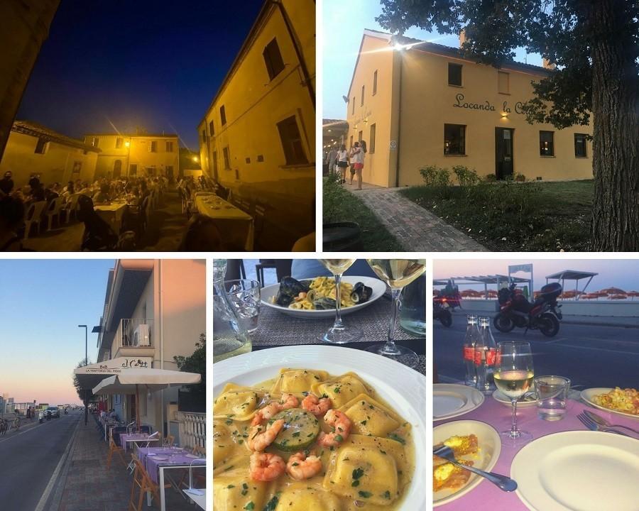 Vakantie in Le Marche, Italie restaurants compilatie