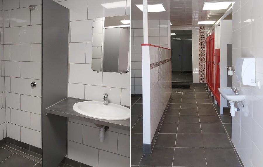 Domaine des Lilas in Saint Germain Lembron, Frankrijk sanitairgebouw-douches Domaine des Lilas 30pluskids image gallery