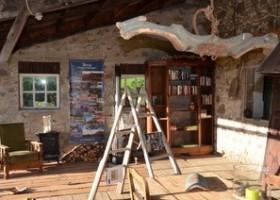 Les 3Etangs in de Auvergne, Frankrijk gezellige receptie Les 3Etangs 30pluskids