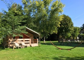 Camping La Nozilliere in de Haute Vienne vlakbij de Dordogne, Frankrijk safaritent Camping La Nozillière  30pluskids