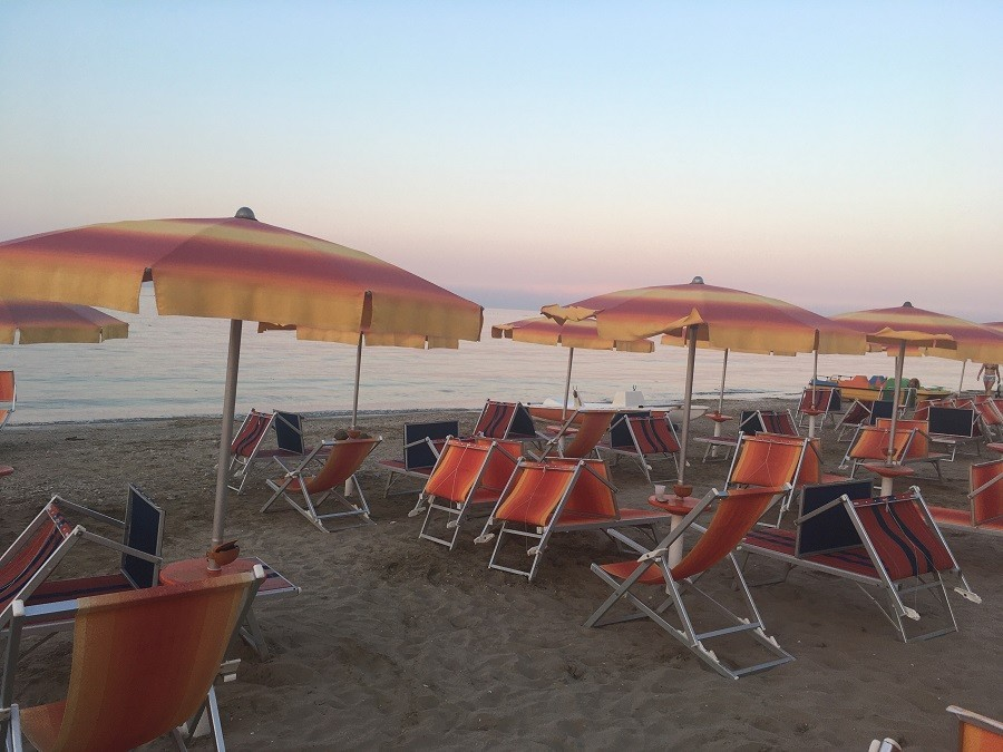 Vakantie in Le Marche, Italie strand Marotta