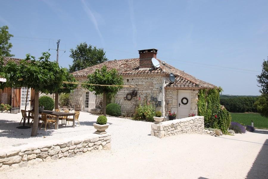 Les Fontanelles in de Lot, Frankrijk huis met terras