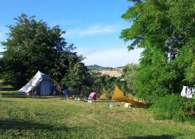 Villa Bussola in Le Marche, Italie kamperen met uitzicht 2 Agriturismo Villa Bussola  30pluskids