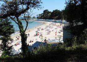 Au Passage du Gois in de Vendee, Frankrijk strand Au Passage du Gois 30pluskids