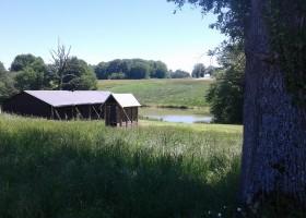 Bonneblond in de Auvergne, Frankrijk safaritent Landgoed Bonneblond 30pluskids