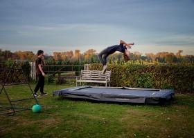 Gasterie Lieve Hemel in Limburg, Nederland trampoline Gasterie Lieve Hemel 30pluskids