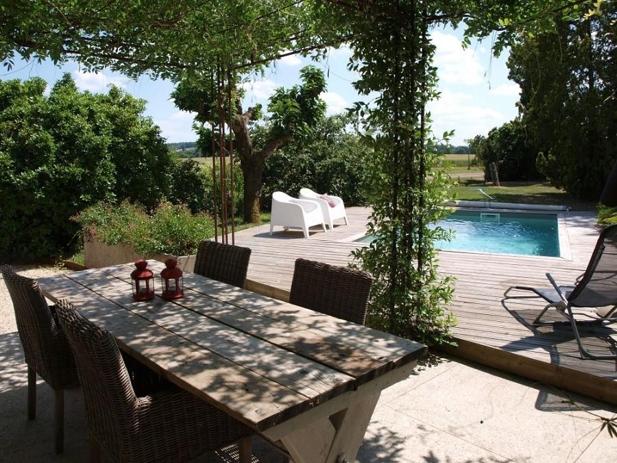 Villa Lafage in de Dordogne, Frankrijk terras en zwembad pigionnier Villa Lafage 30pluskids image gallery