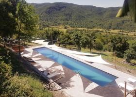 Novanta in Toscane, Italie zwembad overdag Novanta 30pluskids