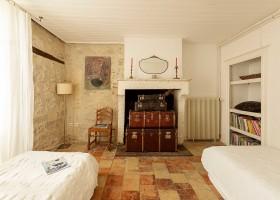 Maisons de Charme in Saint Martin de Gurson, Frankrijk slaapkamer eenpersoonsbedden Maison de Charme 30pluskids