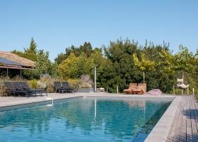 Domaine en Birbes in de Languedoc-Rousillon,  Frankrijk zwembad Domaine en Birbès 30pluskids