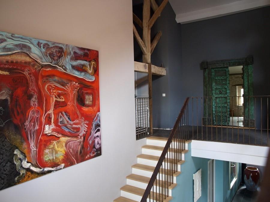 Villa Lafage in de Dordogne, Frankrijk Countryhouse kunstwerken Marthijn de Groot Villa Lafage 30pluskids image gallery