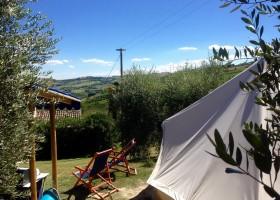 Fortuna Verde in Cossignano, Italie Bell tent olijfgaard Agriturismo Fortuna Verde 30pluskids