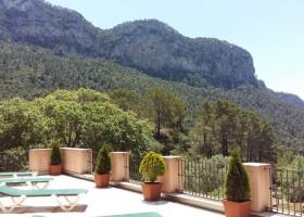 S'Era Vella op Mallorca, Spanje uitzicht vanaf terras kamers S'Era Vella 30pluskids