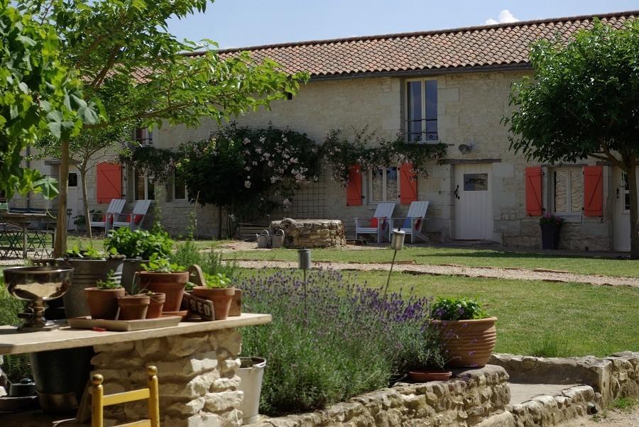 Domaine les Fontaines in de Tourraine, Frankrijk huis met tuin
