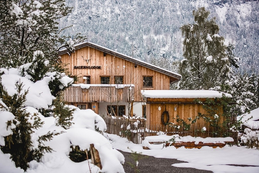 BauernLodge in Tirol, Oostenrijk het huis winter De BauernLodge 30pluskids image gallery