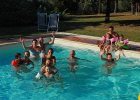 Partingoli in Toscane, Italie pret in het zwembad Piazza Pinokkio 30pluskids