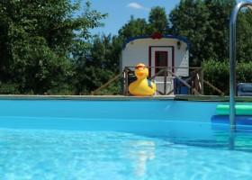 Dans le Jardin in de Bourgogne, Frankrijk zwembad Dans Le Jardin 30pluskids